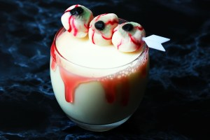 This White Zombie Halloween Cocktail is a twist on the classic White Russian