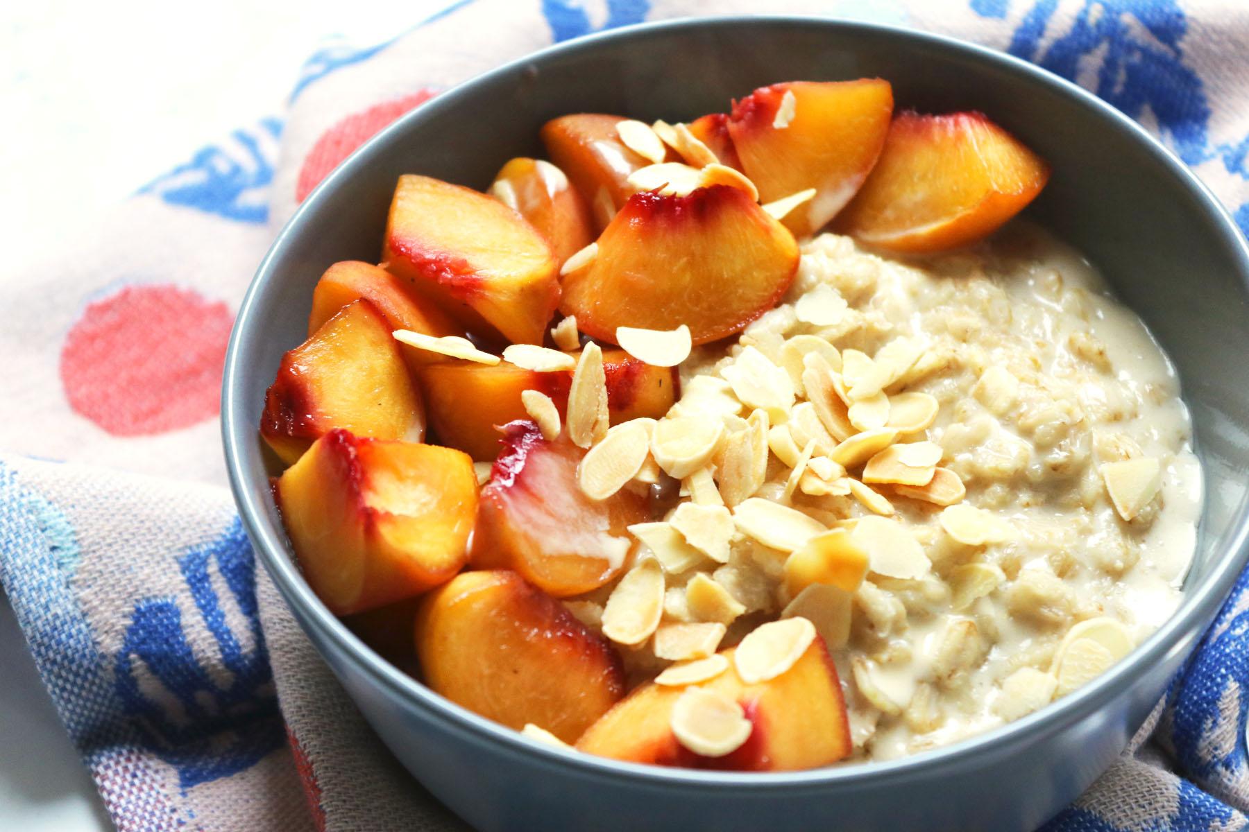 Peach and Cardamom Porridge