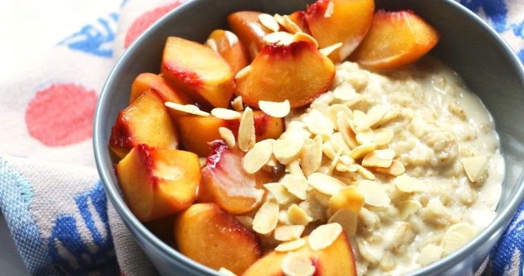 Peach and Cardamom Porridge