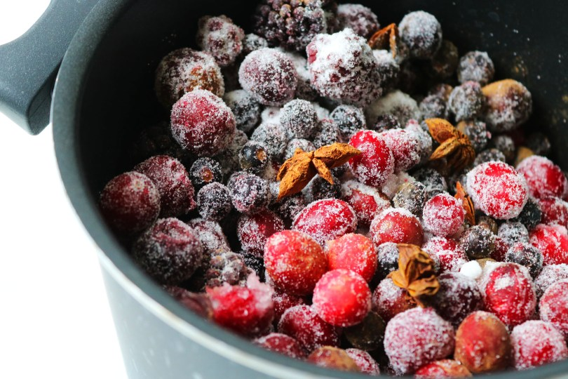 Making Berry compote