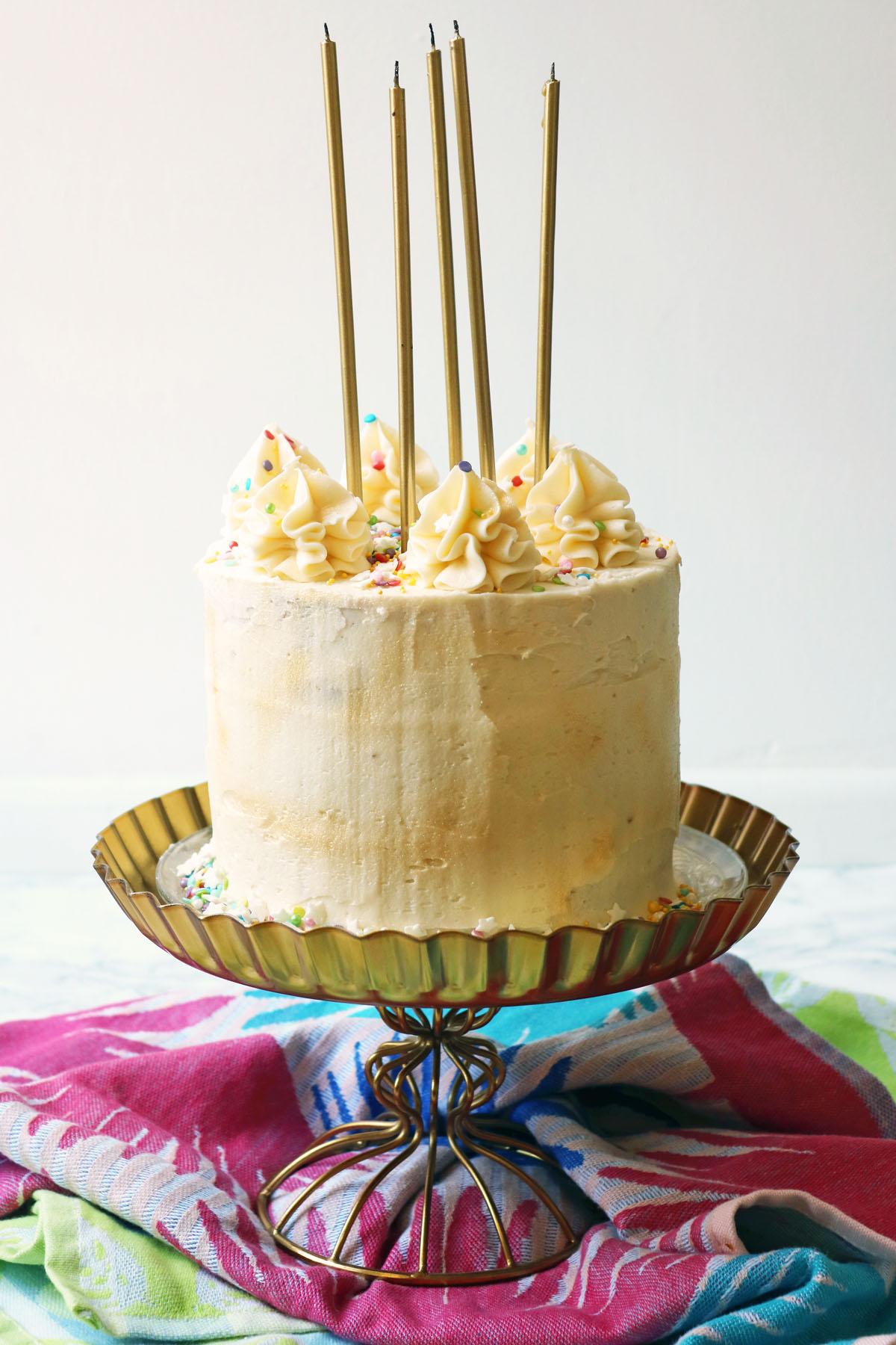 Candles on my vegan birthday cake