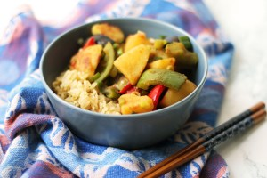 Three Treasures of the Earth, also known as di San Xian is stir-fried potato, aubergine and pepper