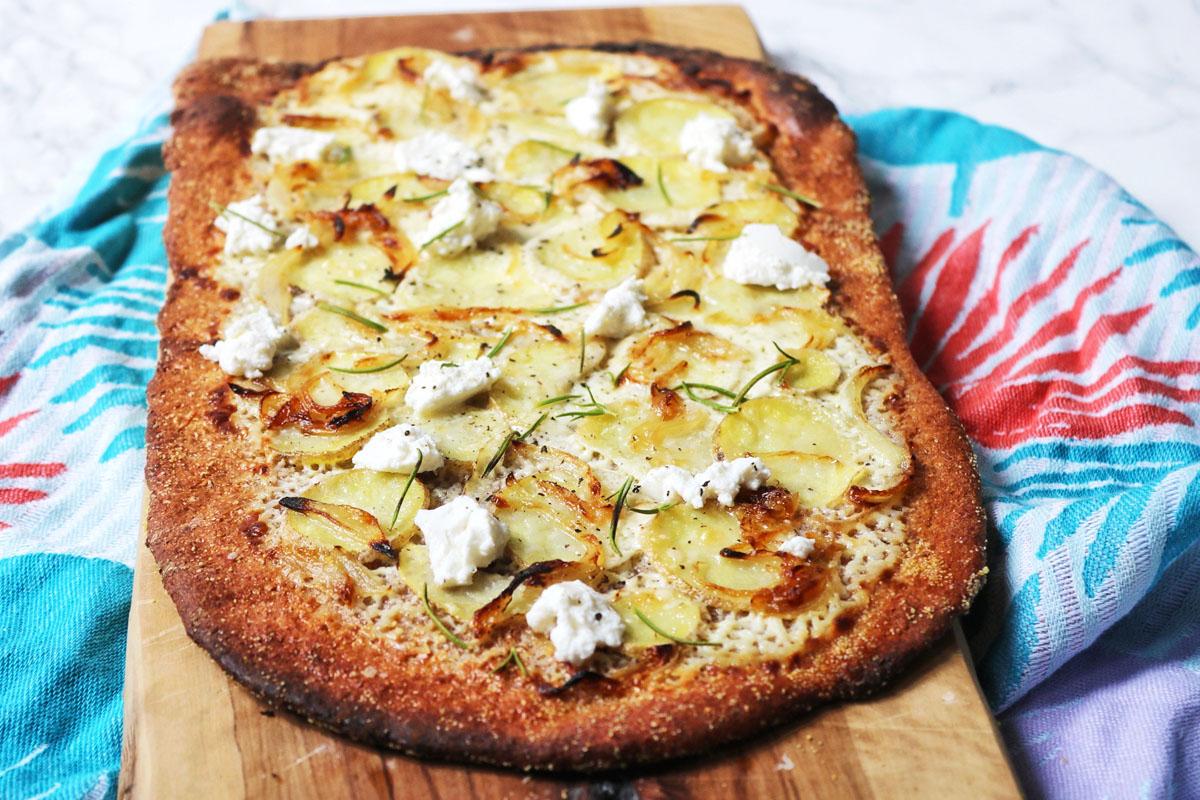 Potato, Ricotta and Rosemary White Pizza