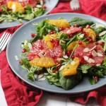Winter Citrus Salad with orange, grapefruit and pomegranate