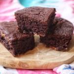 3 vegan brownies