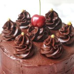 Vegan Chocolate Cherry Cake with Chocolate Buttercream Frosting