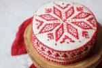 Vegan Christmas Cake with Scandi fairlise design