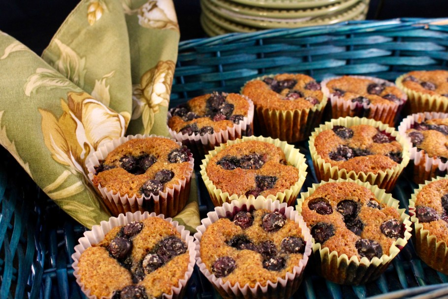 Blueberry Muffins Made with Almond Flour