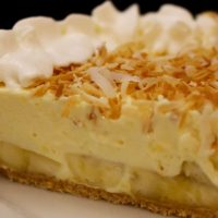 No Bake Banana Pudding Pie