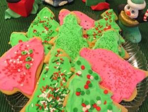 Cutout Christmas Cookies with Royal Icing Meringue Powder