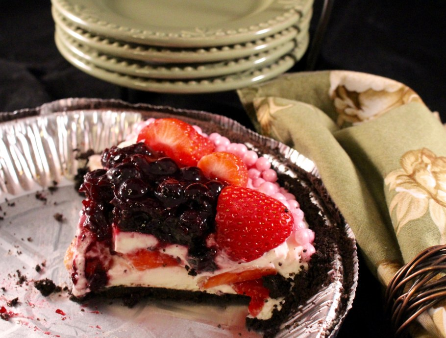 Mixed Berry Oreo Cheesecake Almost Gone!