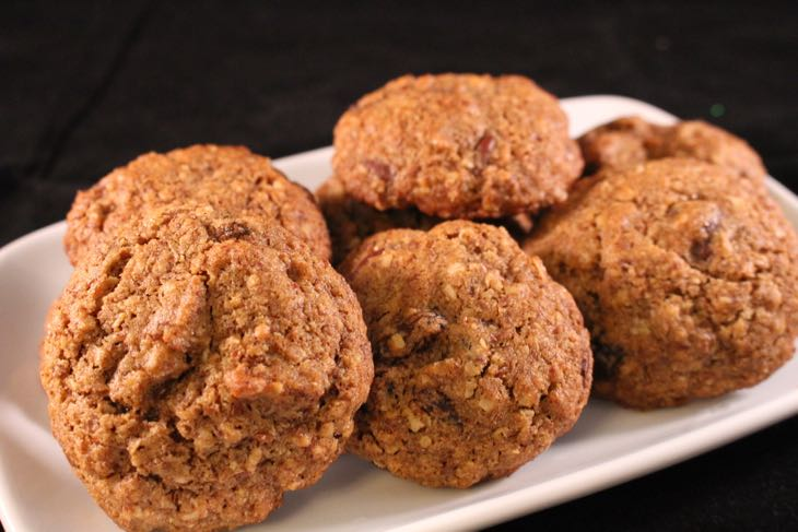 Healthy Oatmeal Raisin Cookie Plated