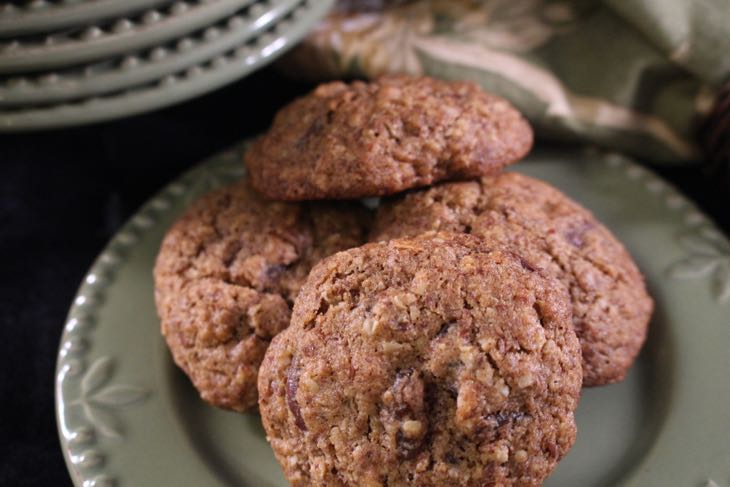 Healthy Oatmeal Raisin Cookie Small Plate of Cookies