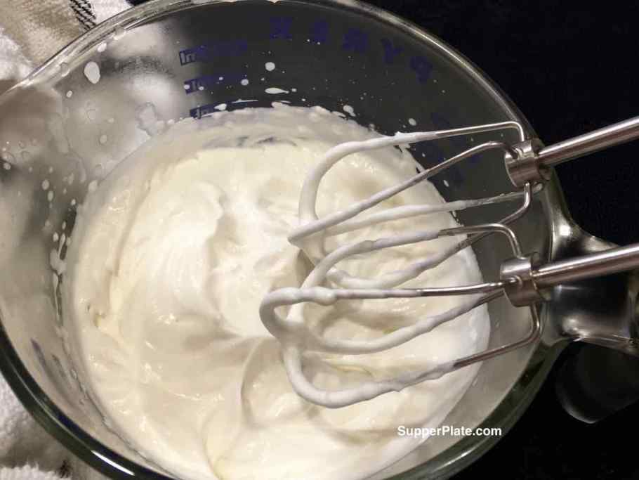 Whipped Topping Stiffer peaks