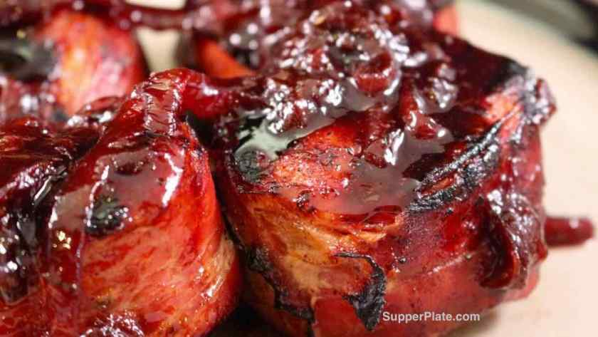 Pork Medallions with Fig Port Wine Sauce