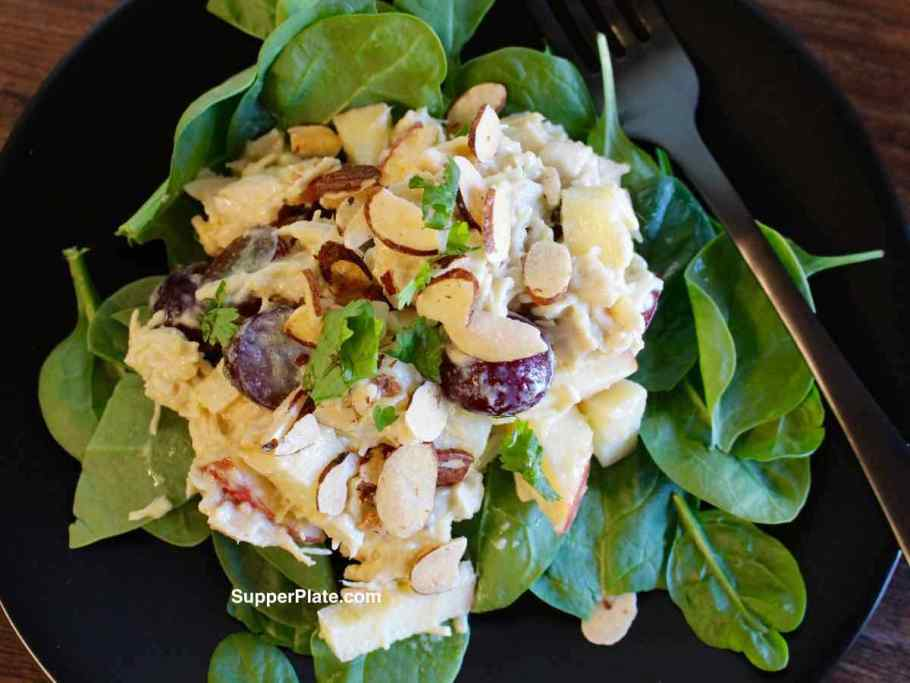 Chicken Salad with Apples Top View