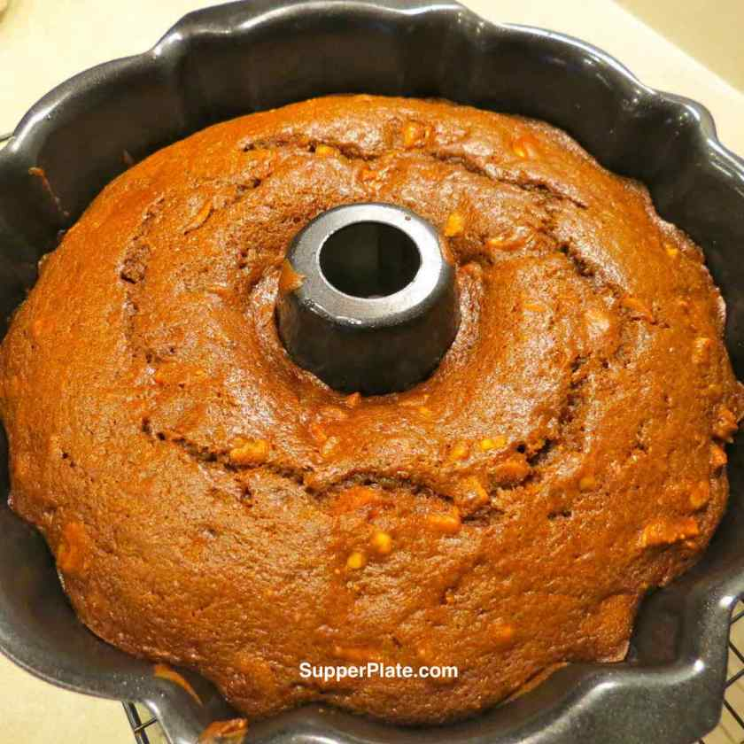 Christmas Figgy Pudding in Bundt Pan