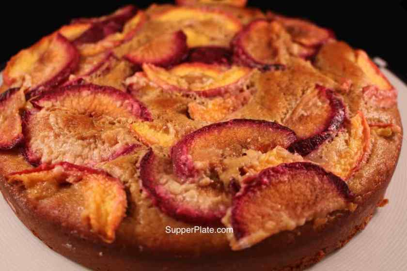 Final Nectarine Upside Down Cake Top View