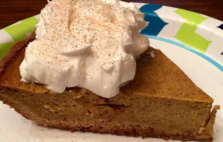 Pumpkin Banana Pie with whipped cream