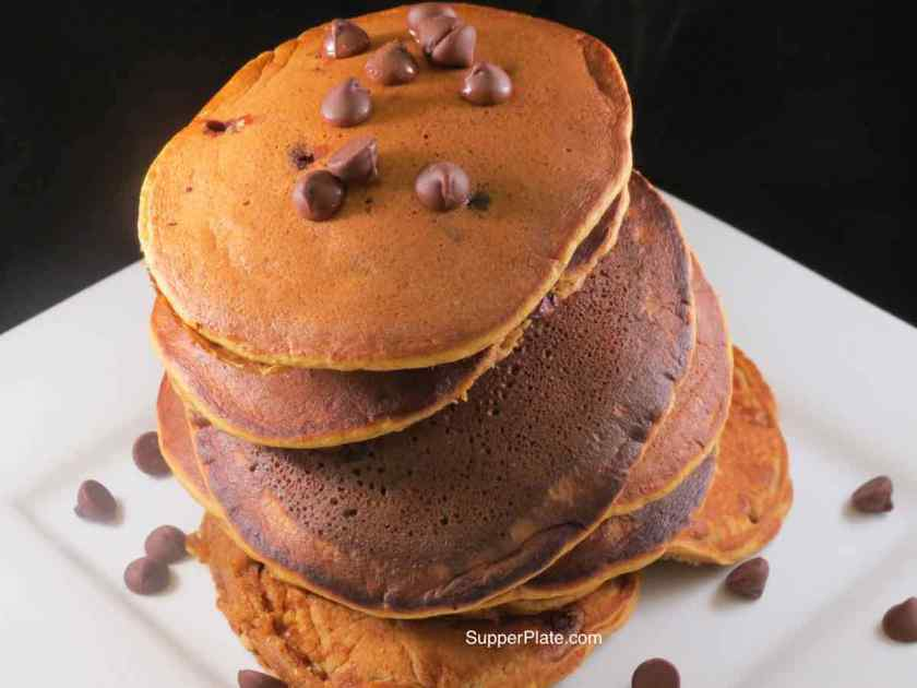 Pumpkin Spice Pancakes stacked