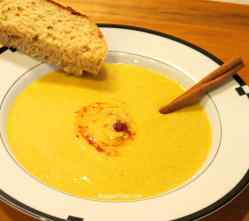 Spicy Pumpkin Soup with hot pepper sauce