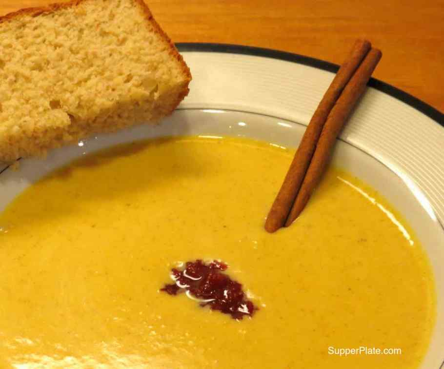 picy Pumpkin Soup close up