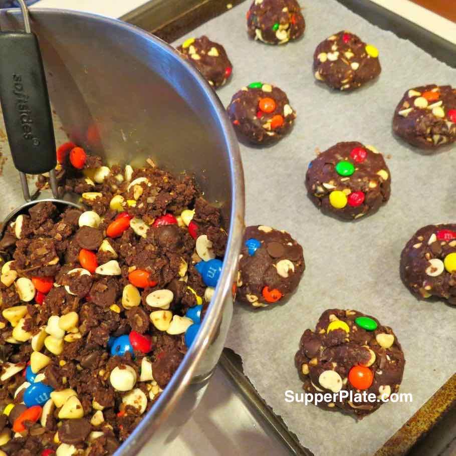 Kitchen Sink Cookies Christmas Cookies on baking pan