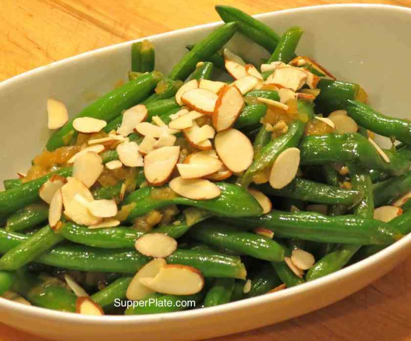 Green Beans Salad with Miso Dressing and Almonds