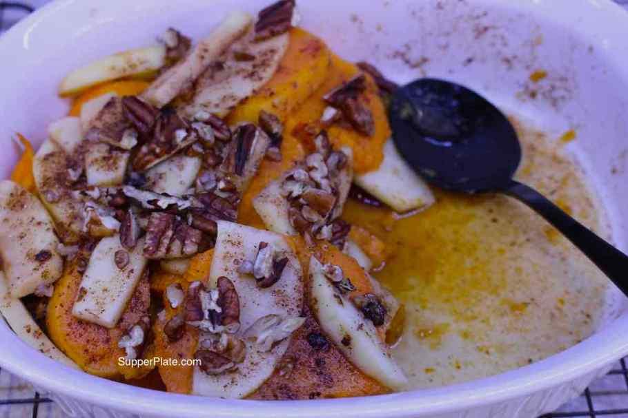 Sweet Potato and Apple Casserole left overs