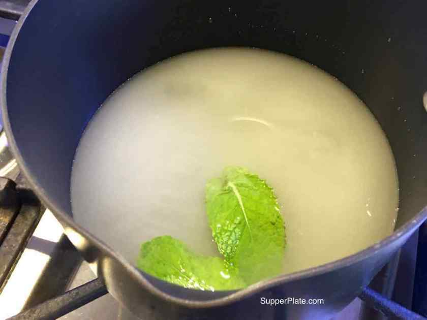 step 2 Mint Infused Simple Sugar