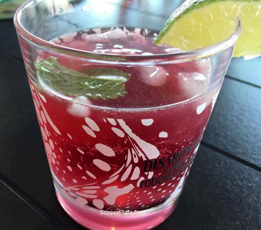 Pomegranate Mojito served