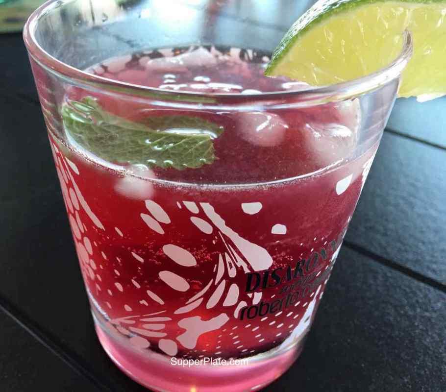 Pomegranate Mojito served