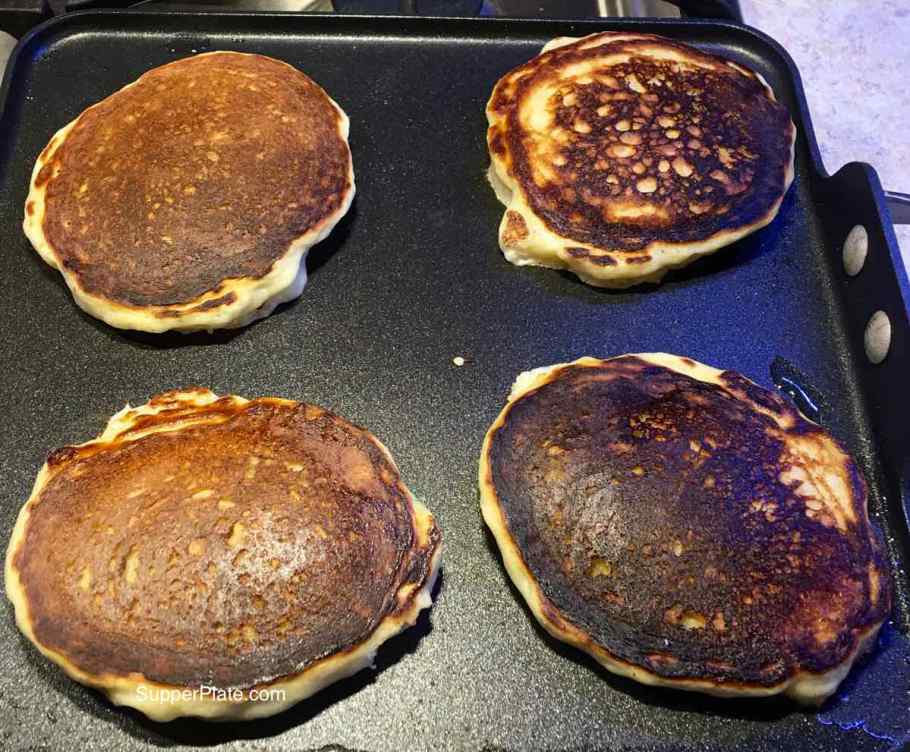 Pancakes getting too brown on the griddle
