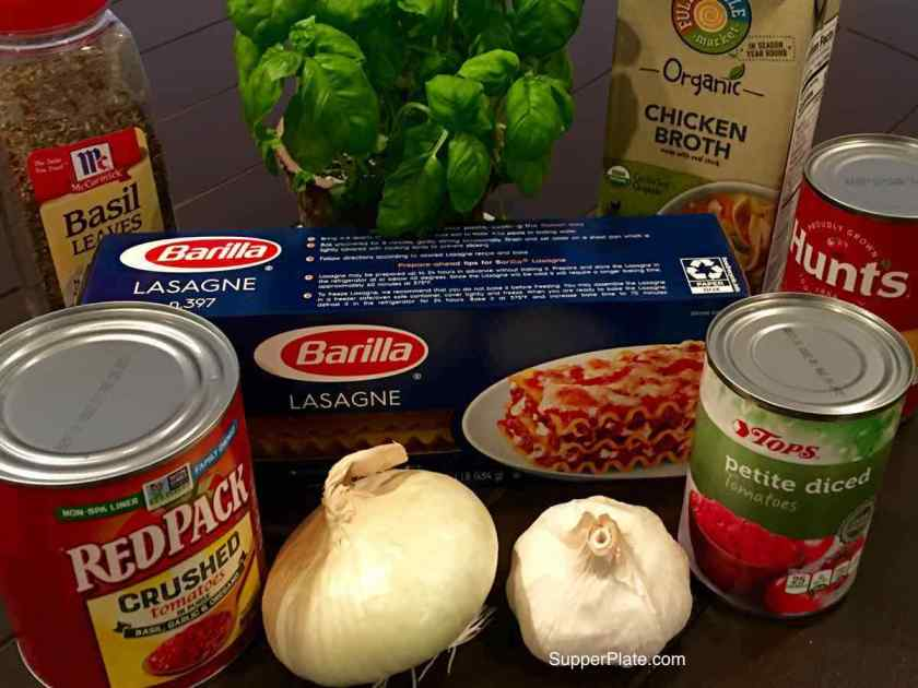 Ingredients to make the soup