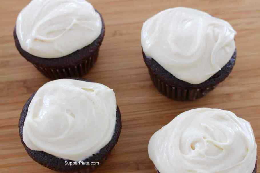 Four Cupcakes with icing