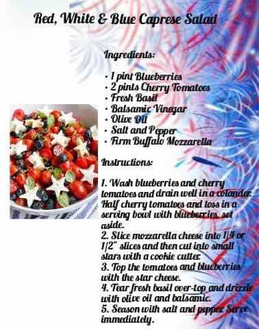 Red white and Blue Caprese salad image recipe