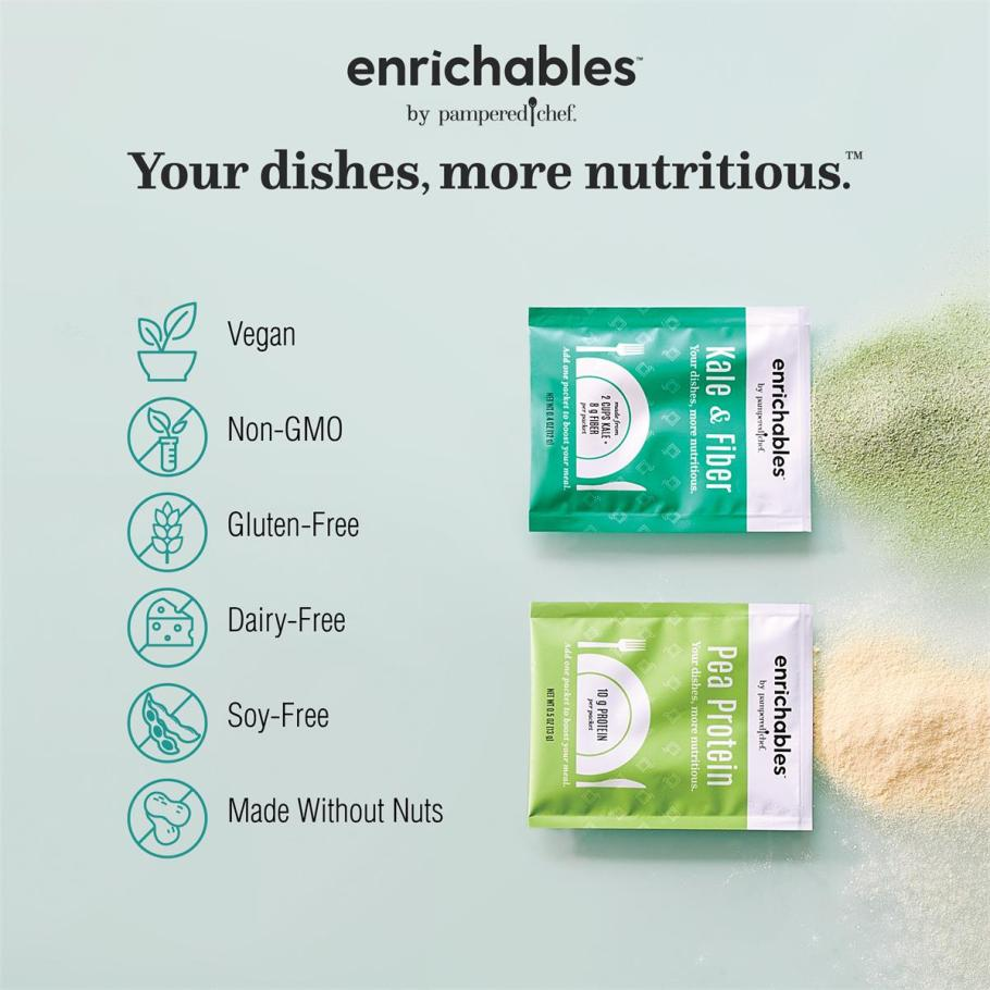 Nutritional information for enrichables vegan non-gmo gluten free dairy free soy free made without nuts