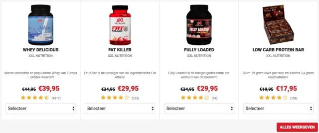 xxl nutrition aanbiedingen