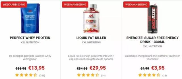 xxl nutrition weekaanbiedingen
