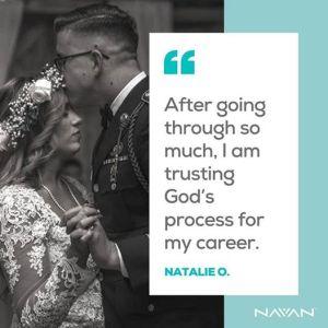 Trusting in God for her career