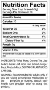 teami detox tea ingredients