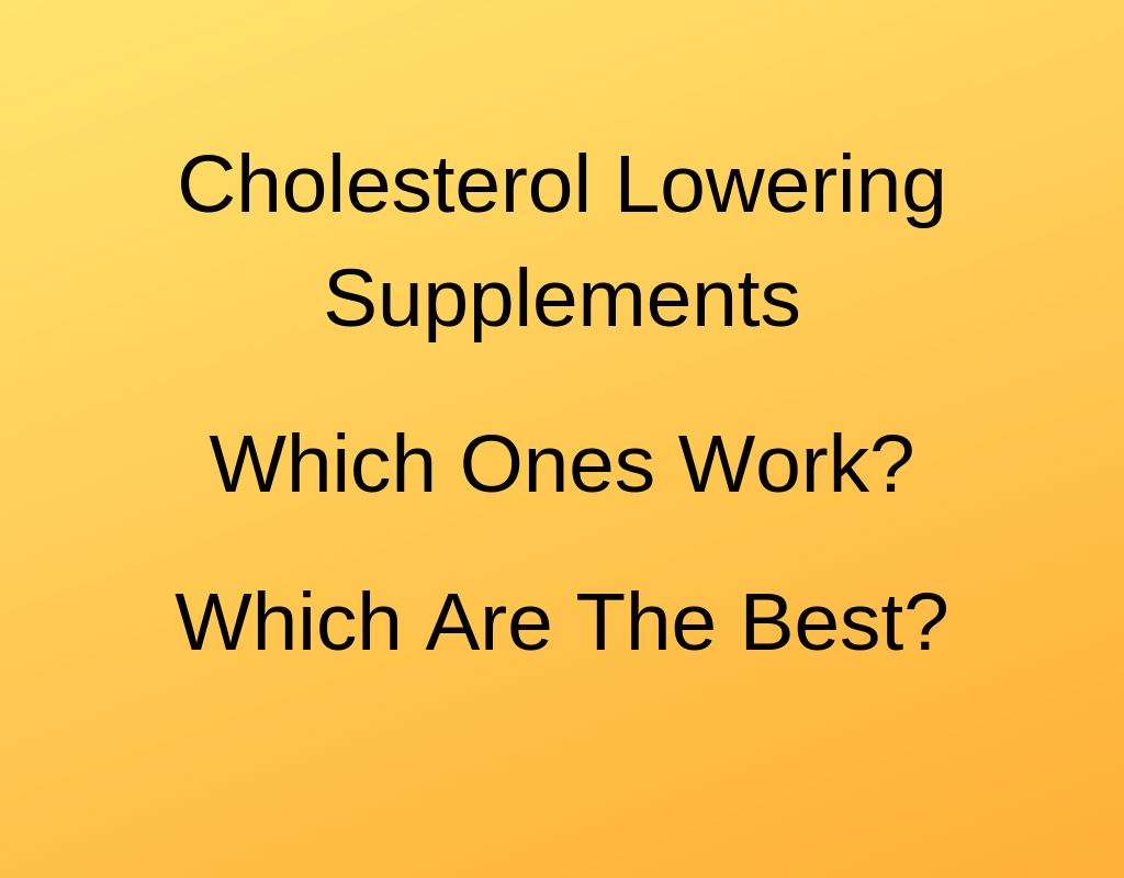 cholesterol-supplements
