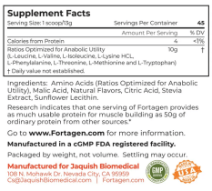 Fortagen Supplement Facts