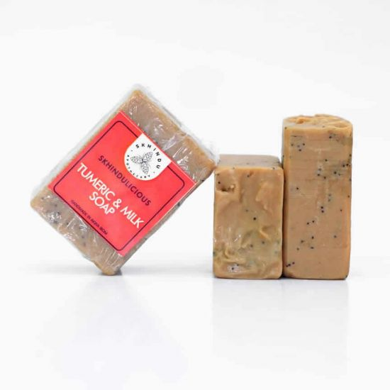 Skhindu Tumeric And Milk Soap