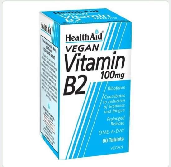 HealthAid Vitamin B2 100mg (Riboflavin) 60's Tablets