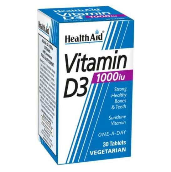 HealthAid Vitamin D3 1000iu 30 Tablets