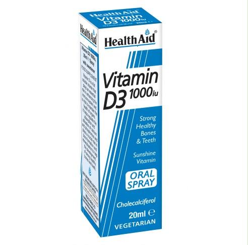 HealthAid Vitamin D3 1000iu Oral Spray - 20ml
