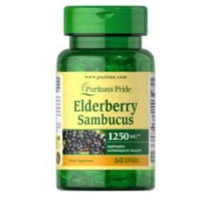 Puritan's Pride Elderberry Sambucus 1250 mg - 60 Softgels