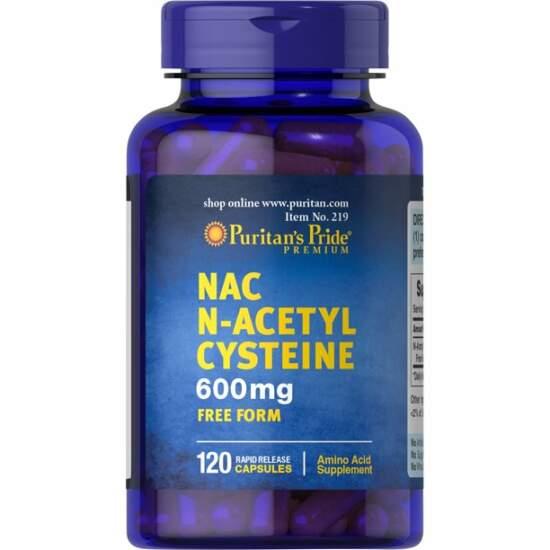 Puritan's Pride NAC N-Acetyl Cysteine 600 mg-30 Capsules