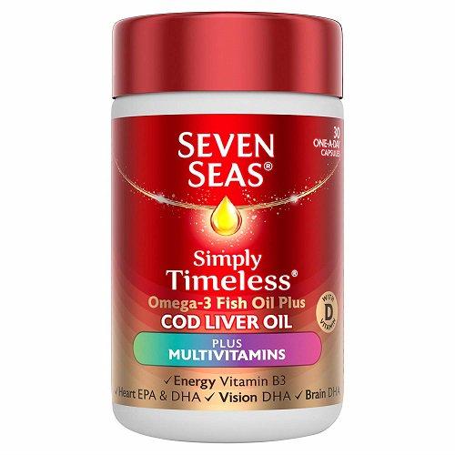Seven Seas Omega 3 Fish Oil Plus COD LIVER OIL Multivitamins